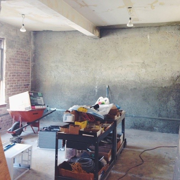 bless the theory studio under construction