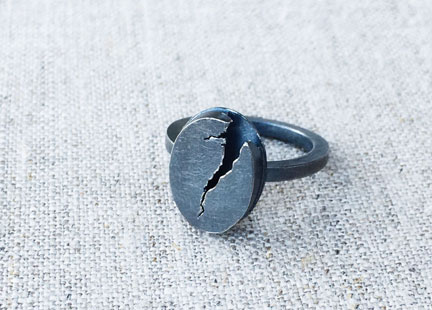 Lightning Series Crack the Sky Signet Ring from Bless the Theory