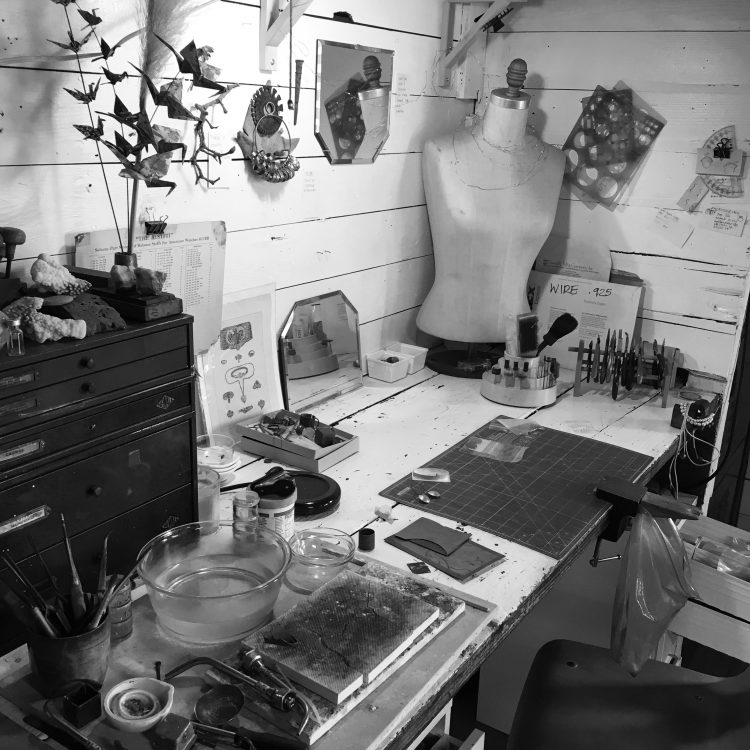 A peek inside my jewelry studio bless the theory
