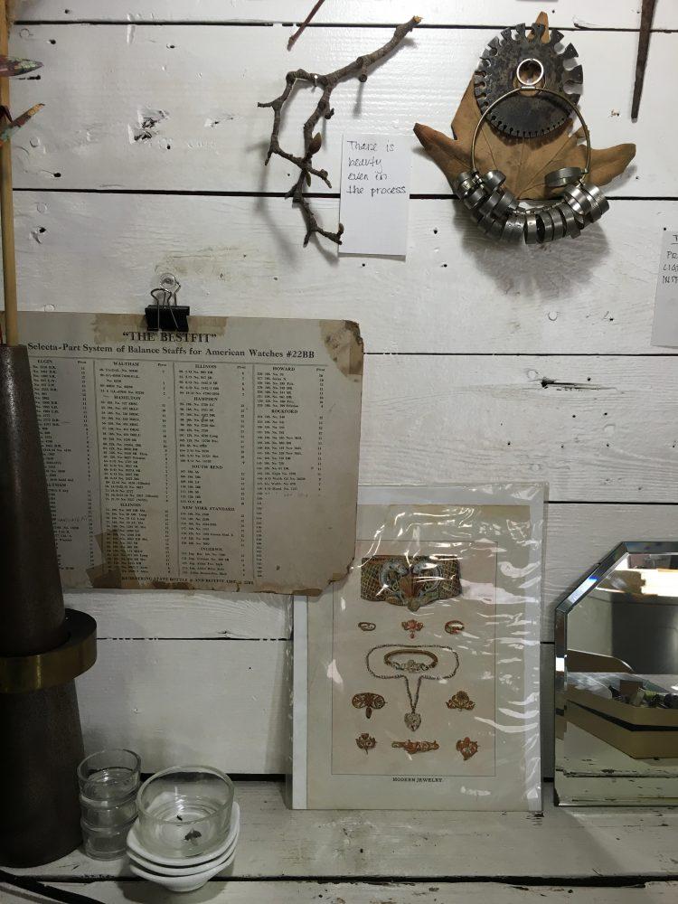 Inspiration wall a peek inside my jewelry studio