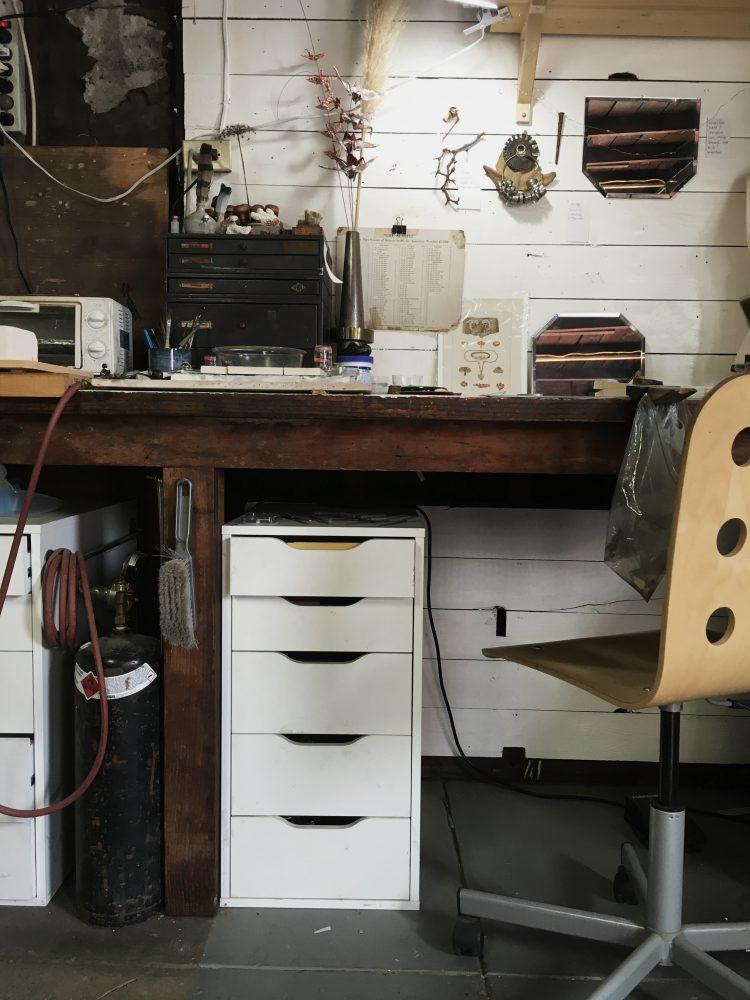 a peek inside my jewelry studio jewelry bench