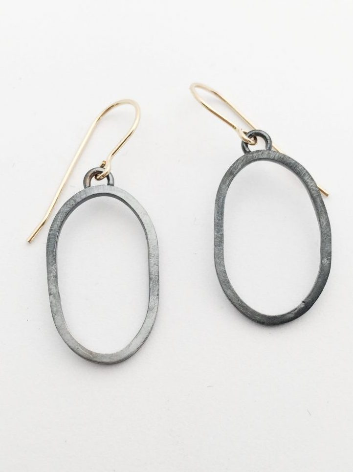 Imperfect Circle Drop Earrings Medium