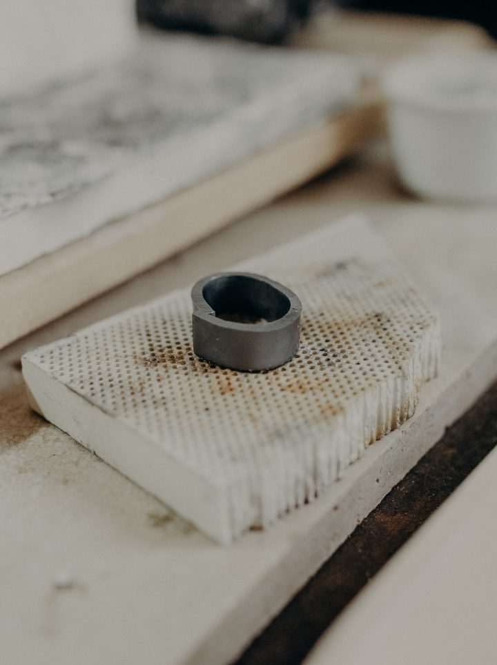 the making of a 18k gold wedding band by charmaine vegas of bless the theory