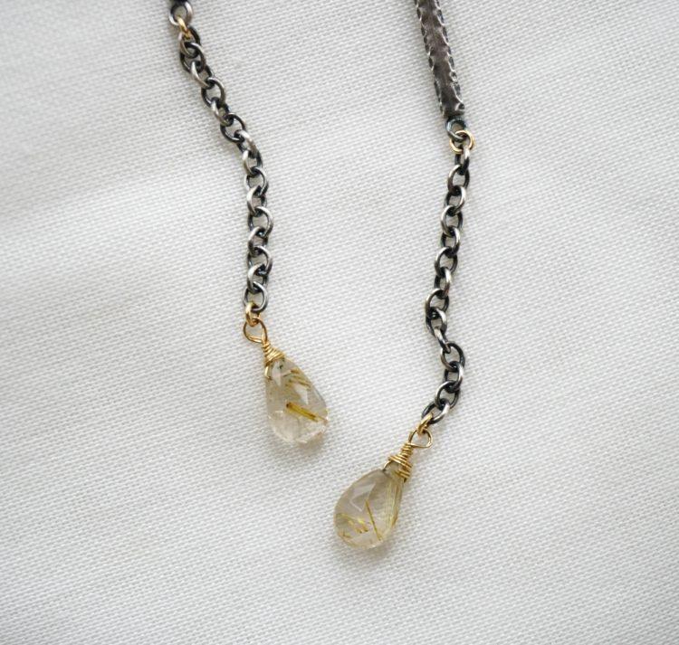 REA Rutilated Quartz Dangle Earrings