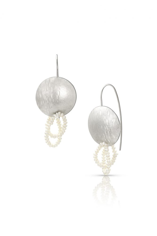 Silver and Freshwater Pearl Earrings by Charmaine Vegas of Bless the Theory